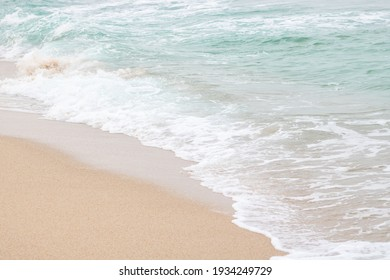 Ocean wave background and sea beach