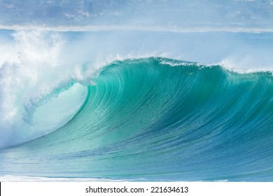 Ocean Wave Blue Water Ocean Wave blue swells crashing curling breaking sea water