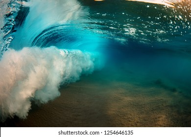Ocean Wave inside underwater, water background