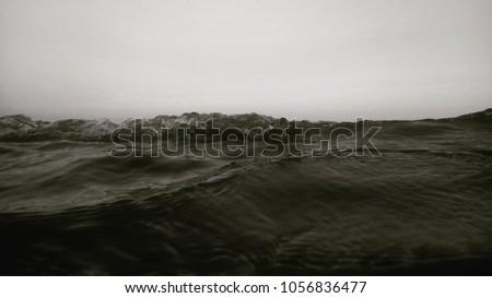 Ocean wave rising up