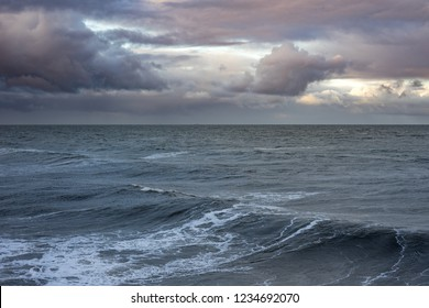 Ocean and waves with sky.