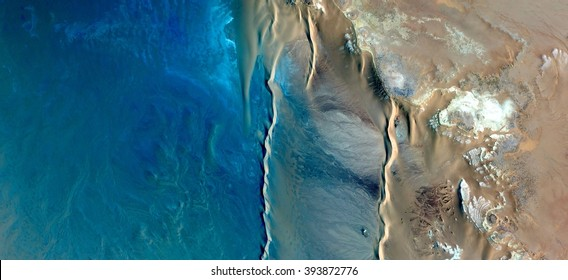 the ocean,allegory, tribute to Pollock, abstract photography of the deserts of Africa from the air,aerial view, abstract expressionism, contemporary photographic art, abstract naturalism,