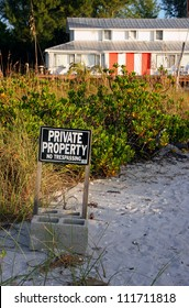 Oceanfront Beach Condominium Sanibel Island at Sunrise ; Private Property