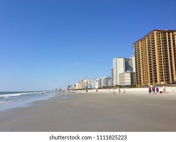 Oceanfront hotels and condominiums offer both visitors and locals stunning views of Myrtle Beach South Carolinas Grand Strand.