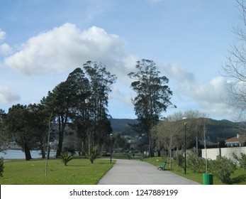 Oceanfront park. Galicia. Spain