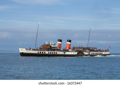 An ocean-going paddle steamer on the Firth of Clyde