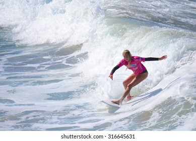 OCEANSIDE, CALIFORNIA - JULY 26th: Laura Enever at the Super Girl Pro 2015 in Oceanside California on July 26th, 2015.