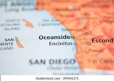 Imágenes, fotos de stock y vectores sobre Oceanside Map ...