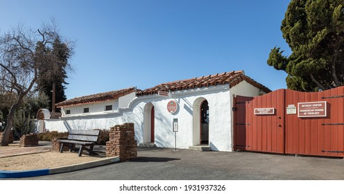 Oceanside, California  USA - March 5, 2021: Franciscan School of Theology Retreat Center next to the coffee shop and restrooms
