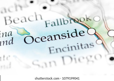 Oceanside, California, USA on a map.