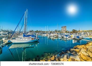 Oceanside harbor on a clear day. California, USA