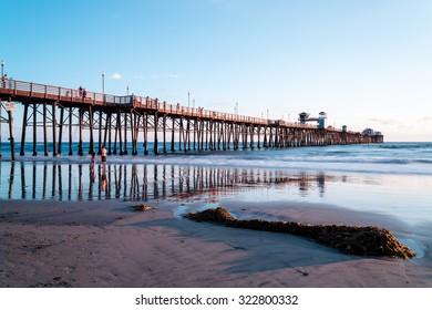 Oceanside Pier/ Iconic Oceanside pier is the second longest wooden pier in California