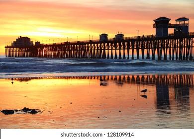 Oceanside Pier Reflections