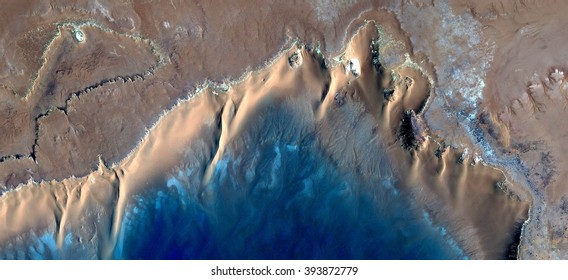 the ocean,waves,abstract photography of the deserts of Africa from the air, bird's eye view, abstract expressionism, contemporary art, optical illusions,