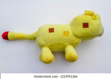 Ocelot textile yellow cat