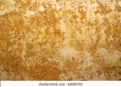 ocher yellow wall texture grunge background in Mediterranean house