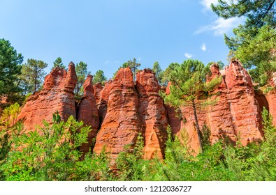 Ochre landscape at Roussillon in Provence, France