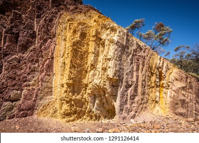 Ochre Pits colorful view in West MacDonnell National Park in NT central outback Australia