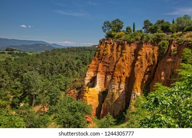 Ochre rocks in Roussillon, Provence, Luberon, Vaucluse, France