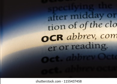ocr word in a dictionary. ocr concept.