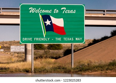 OCT 10, 2018, TEXAS, USA - Welcome to Texas State Sign