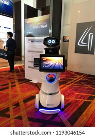 Oct 2, 2018 Bangkok: An robot greet and provide information to participants at Dell Technologies Forum, a free one-day event that show power of Dell's seven technology powerhouses, all in one place.