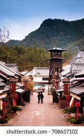 Oct 20, 2014 Nikko, Tochigi, Japan : Edo Wonderland or Nikko Edomura, Famous cultural theme park recreating town life of  Edo Period
