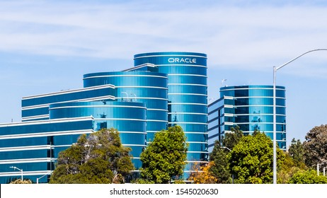 Oct 26, 2019 Redwood City / CA / USA -  Oracle corporate headquarters in Silicon Valley; Oracle Corporation is a multinational computer technology company specializing in database management systems