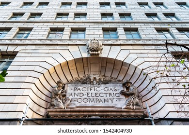 Oct 26, 2019 San Francisco / CA / USA - PG&E ( Pacific Gas and Electric Company) historical headquarters in downtown San Francisco;