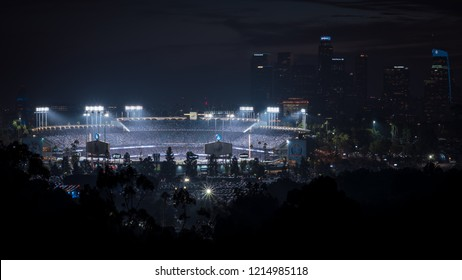 Oct 28, 2018; Los Angeles, CA, USA; During Game 5 of the 2018 MLB World Series: Boston Red Sox vs Los Angeles Dodgers.