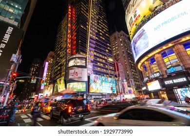 Oct 4, 2018, New York City, Times Square, Manhattan, USA