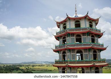 Octagonal pagoda In Kanchanaburi, Thailand