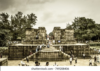October 03,2017. Puri, Orissa,India. Konark Sun Temple is a 13th-century CE Sun Temple at Konark in Odisha, India. It is believed that the temple was built by king Narasimhadeva