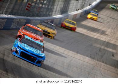 October 07, 2018 - Dover, Delaware, USA: Darrell Wallace, Jr (43) battles for position during the Gander Outdoors 400 at Dover International Speedway in Dover, Delaware.