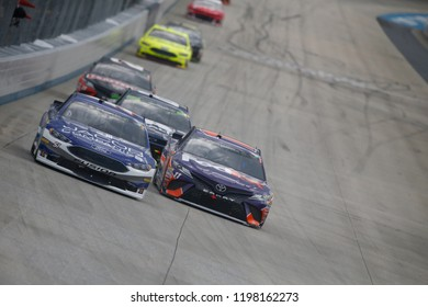 October 07, 2018 - Dover, Delaware, USA: BJ McLeod (51) battles for position during the Gander Outdoors 400 at Dover International Speedway in Dover, Delaware.