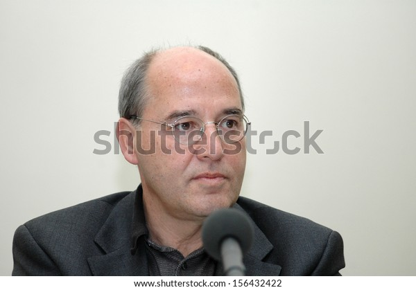 OCTOBER 1, 2005 - BERLIN: Gregor Gysi at a press conference of the PDS in Berlin.