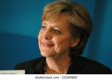 OCTOBER 10, 2005 - BERLIN: Angela Merkel after a meeting with members of the Social Democratic Party in the Konrad Adenauer House in Berlin.