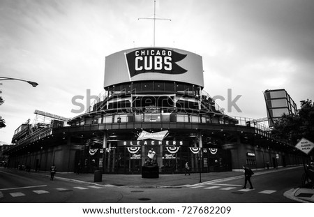 October 10, 2016 - Bleachers entrance in Wrigley Field, Chicago, Illinois