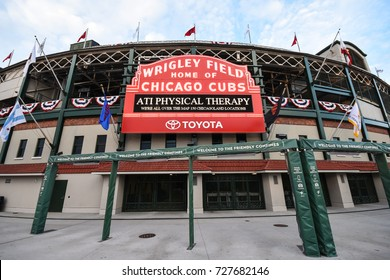 October 10, 2016 - The legendary marquee of Wrigley Field, Chicago, Illinois