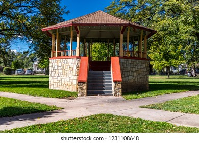 OCTOBER 10, 2018 - Las Vegas, NM, USA - Gazebo in Las Vegas New Mexico, small town America