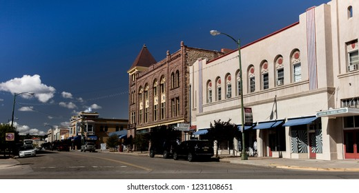 OCTOBER 10, 2018 - Las Vegas, NM, USA - Las Vegas New Mexico townfront, small town America