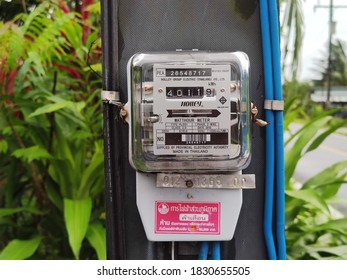 October 10, 2020, Phang Nga, Thailand, a 5 amp meter in the countryside