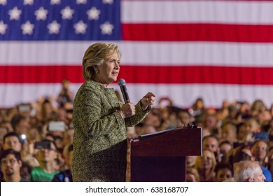 OCTOBER 12, 2016, Democratic Presidential Candidate Hillary Clinton campaigns at the Smith Center for the Arts, Las Vegas, Nevada