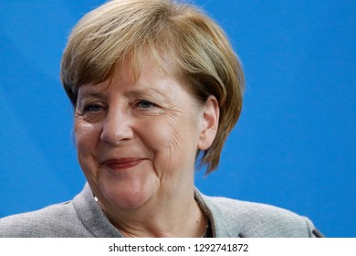 OCTOBER 12, 2018 - BERLIN: German Chancellor Angela Merkel at a reception for the Slovenian Prime Minister in the Chanclery.