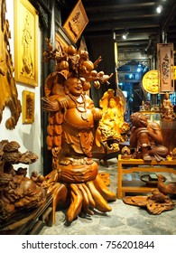 October 13, 2017, evening art and crafts shops open for tourist in the well known world cultural heritage place, HOI AN, an historical Japanese Chinese and european international market  in VIETNAM