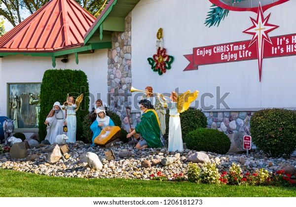 Bronners Christmas Wonderland.October 13 2018 Bronners Christmas Wonderland Stock Photo