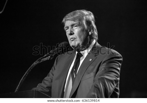 "OCTOBER 15, 2016, EDISON, NJ - Donald Trump speaks at Edison New Jersey Hindu Indian-American rally for ""Humanity United Against Terror"""