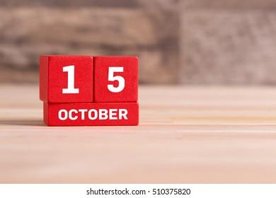 OCTOBER 15 CALENDAR DAY