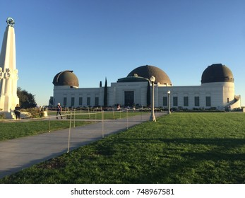 OCTOBER 16 2017 - LOS ANGELES, CALIFORNIA: The Griffith Observatory in Griffith Park on a late afternoon sunny clear day in the fall