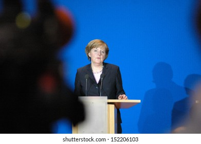 OCTOBER 17, 2005 - BERLIN: Angela Merkel during a press conference after the negotiations for a coalition treaty between the Christian Democrast and the Social Democrats in the Willy Brandt House.